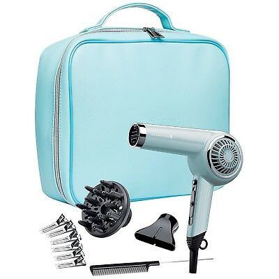 Remington Retro Women's Hair Dryer Diffuser Gift Set Kit, 2000W, D4110OB - Blue