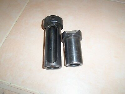 "2 CNC Lathe Tool Holder Bushing 1.5"" OD 1"" ID"