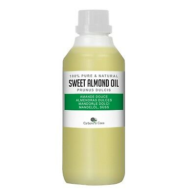 Carbone & Coco™  1 Litre - Pure Sweet Almond Oil -  For Skin, Hair & Massage
