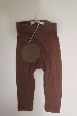 New BLANC Baby Unisex Brown Leggings Size 9-12 Months - Unisex Baby Leggings