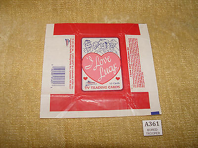 Pacific I Love Lucy Trading Card Packet Wrapper Flat Ready To Frame Htf 1991