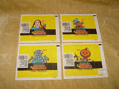 4 Different Topps Return To Oz Trading Card Gum Packets/wrappers 1985 Disney Htf
