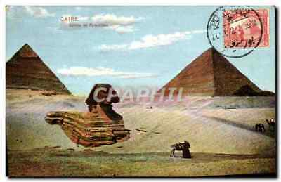 CPA Caire Sphinx Et Pyramides