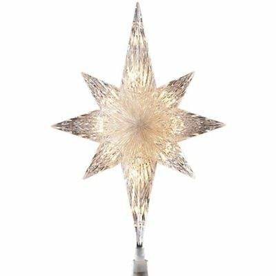Christmas Decor Tree Topper Holiday Silver Jewel Star Starburst Outdoor Lights