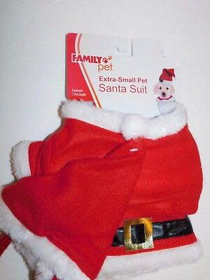 Dog Pet Cat Christmas Santa Suit Puppy Clothes Size XS - Extra Small