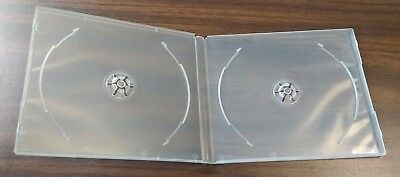 NEW! 10mm Super Clear Double CD Poly Case 2 Discs Holder Box 12 Pk