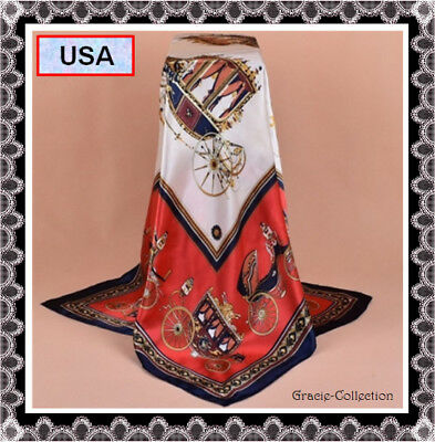 Christmas Gift Idea Woman Vintage Silk Scarf FASHION Wrap Shawl Hijab Best, USA