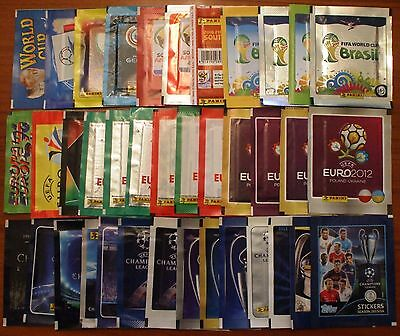 Bustine Packets Pack Tüten Stickers Panini World Cup Euro Champions Copa America