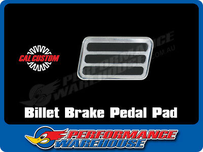 Billet Aluminium Brake Pedal Pad W/3 Rubber Inserts Street Rod Hot Rod Polished