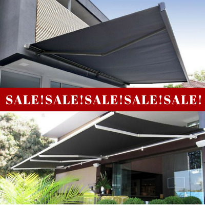 3x2 RETRACTABLE AWNING DIY Patio Veranda Window Shade Sun Shield Heat Cover