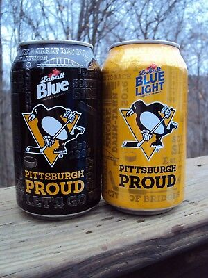 2017-2018 LABATTS BLUE PITTSBURGH PENGUINS / PITTSBURGH PROUD 12oz. beer can set