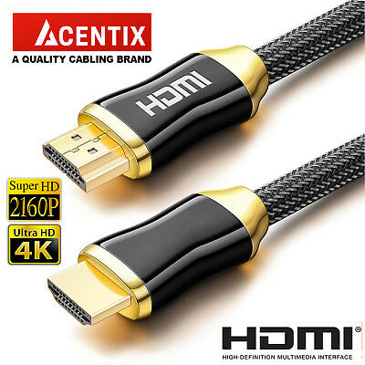 PREMIUM HDMI Cable v2.0 HD High Speed 4K 2160p 3D Lead 1m/2m/3m/4m/5m/7m/10m