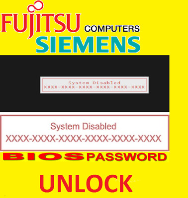 FUJITSU STYLISTIC RESET UNLOCK BIOS  Password HASH CODE 6x4 SERVICE