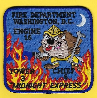 Dcfd Engine 16 / Tower 3 / Chief 6 Company Patch ~ The Midnight Express ~ L@@K