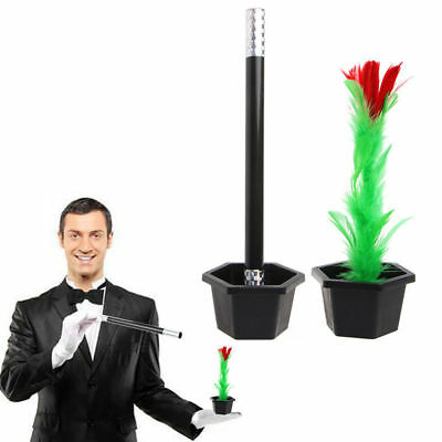 Kids Fun Toy Gift Magic Trick Show Prop Flower Feather Sticks Comedy Party Stage