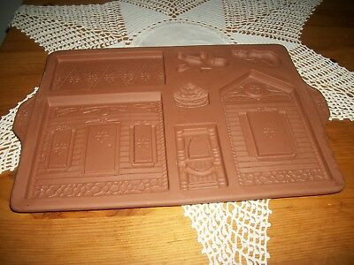 "1997 Longaberger Gingerbread House Holiday Home Mold 13"" x 8.5"""
