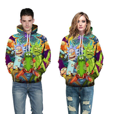 Rick and Morty 3D Printed Hoodies Sweatshirts Sweater Jacket Coat Size S-5XL
