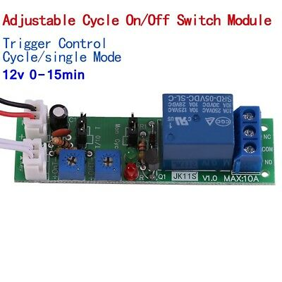 5x DC 12V Infinite Cycle Delay Timing Timer Relay Switch Loop Module 1S-15min AU