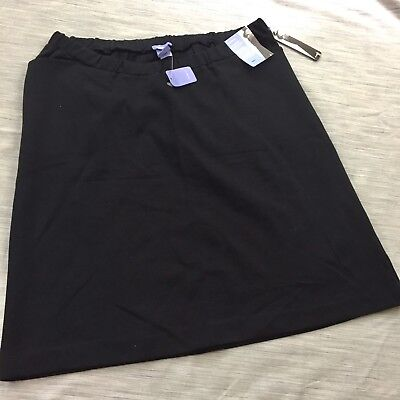 Gap maternity skirt mini skirt black 8 NEW below belly stretch work career prof