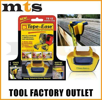 """Tape Ease Rubber Grip Te-12 - New Invention To Suit 5m Or 8m 1"""" Tape Measure"""