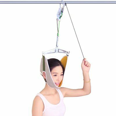 Neck Massager Traction Device Kit Neck Back Stretcher Adjustment Chiropractic BH
