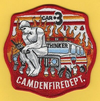 CAMDEN FIRE DEPARTMENT RESCUE COMPANY 1 PATCH ~ NEW JERSEY ~ M/'m M/'m GOOD !!!!!!