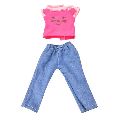 Handmade Pink Casual Clothes for 14 inch American Girl Wellie Wishers Doll