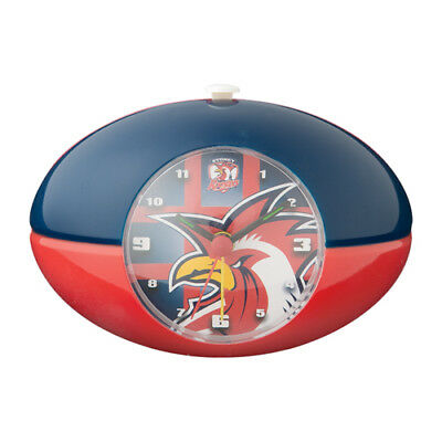 Sydney Roosters NRL Desk Alarm Clock Footy Shape Christmas Birthday Gift