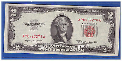 1953B $2 Dollar Bill Old Us Note Legal Tender Paper Money Currency Red Seal Ln21