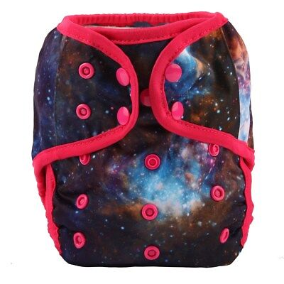 Baby Diaper Cover Nappy Cover Double Gussets Reusable One Size Solar System