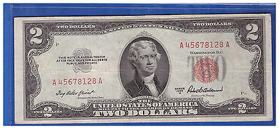 1953A $2 Dollar Bill Old Us Note Legal Tender Paper Money Currency Red Seal M507