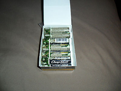LOT OF (12) New In Package 0.15Oz Chapstick Classic Original Camouflage Tubes