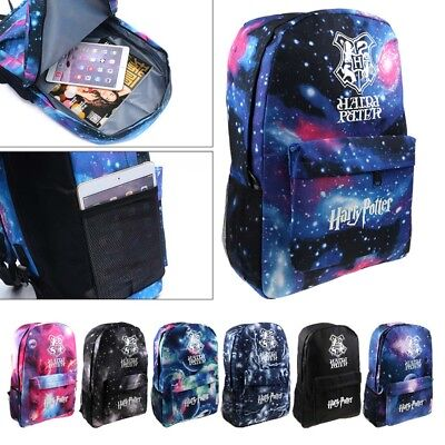 Harry Potter Hogwarts Galaxy Luminous School Student Backpack Book Bag Cosplay