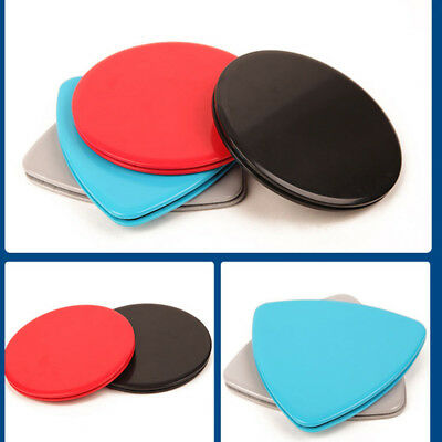 2PCS Fitness Gliders Core Sliders Workout Gym Exercise Slide Discs Loud UB