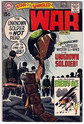 Star Spangled War Stories #151 VG+ 4.5 First Solo Appearance Of Unknown Soldier!