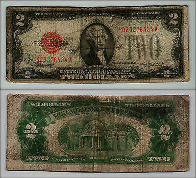1928D $2 Dollar Bill Old Us Note Legal Tender Paper Money Currency Red Seal Z355