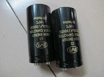 2pc 12000uF//mfd 80V Power amplifier power filter Electrolytic capacitor #2026 xh