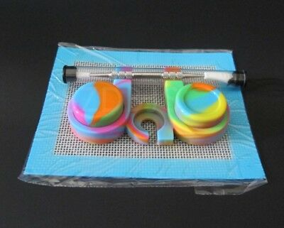 Silicone Dab Station - 2 Containers - Pad - Carving Tool - Non Stick Slick Oil