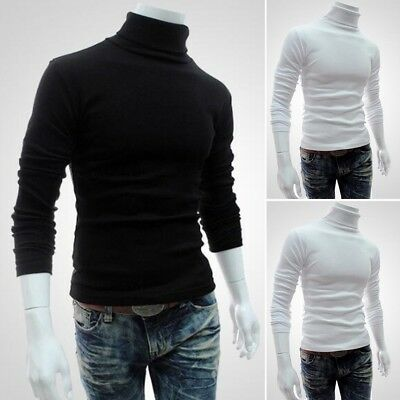 Mens Thermal High Collar Turtleneck Skivvy Long Sleeve Sweater Stretch Shirt Lot