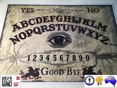 Ouija Board With Planchette & Instructions - Laminated Card (Not A Wooden Board)