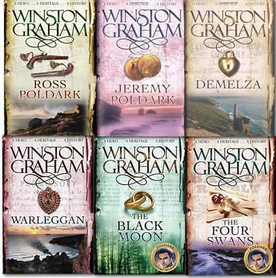 POLDARK Historical Fiction Series by Winston Graham PAPERBACK Collection 1-6