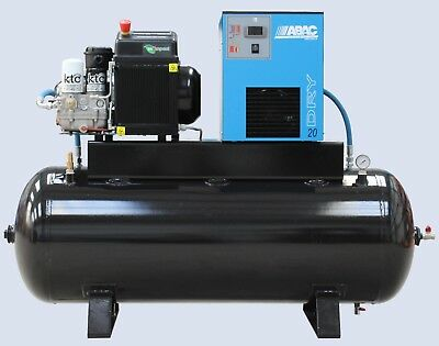 2.7kw 240volt Rotary Screw Compressor with optional ABAC dryer inc vat