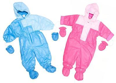 Boys Snowsuit Girls Padded Mittens Bootees Ski Suit Baby Toddler 6 to 18 Months