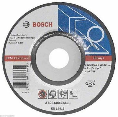 Bosch Metal Grinding Disc with Depressed Centre  125mm (10 Pack) - 2608600223/10