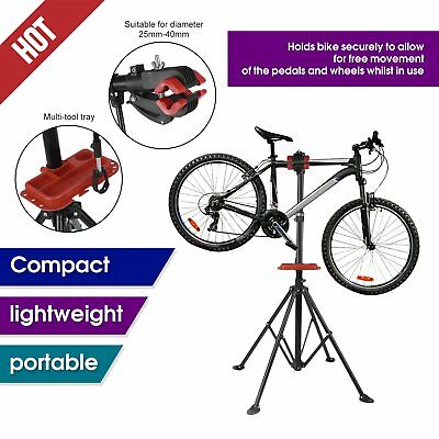 Kobie Bike Repair Work Stand With Bonus Tool Tray For Home Bicycle Mechanic Rr