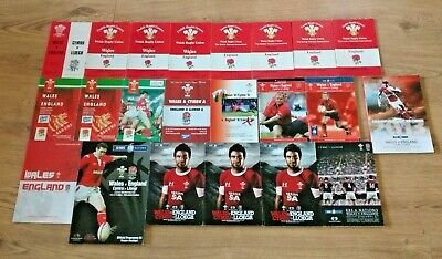 Wales v England Rugby Union Programmes 1951 - 2013
