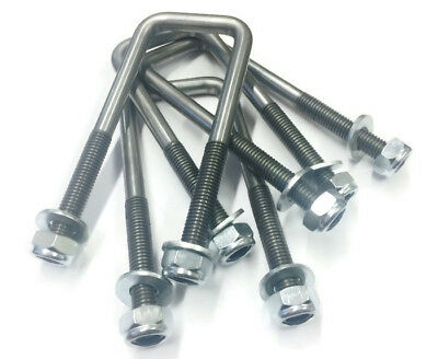 10mm Square Unplated U Bolts U-Bolt For Boat And Live Stock Trailers M10 Thread