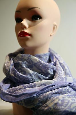 SPORTSCRAFT Dara flower print long scarf purple in colour new with tag