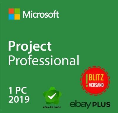 Microsoft Project 2019 professional ⭐️MS® Project ⭐️30Sec NACHRICHT LIEFERUNG ⭐️