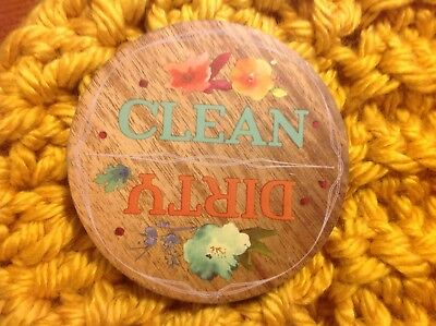 "PIONEER WOMAN /""WILLOW/"" CLEAN//DIRTY WOOD DISHWASHER MAGNET"